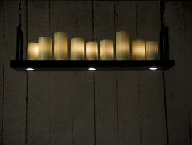 Hangende kaarsenlamp staal