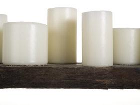 Candle hanglamp van eiken wagonplanken